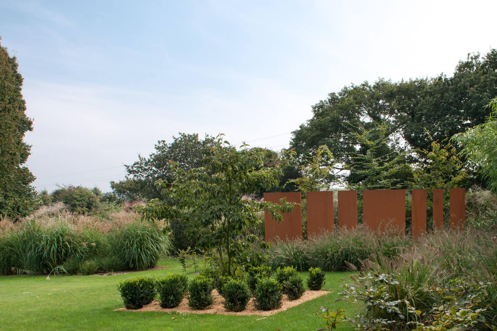 Aménagement de jardin en Corten