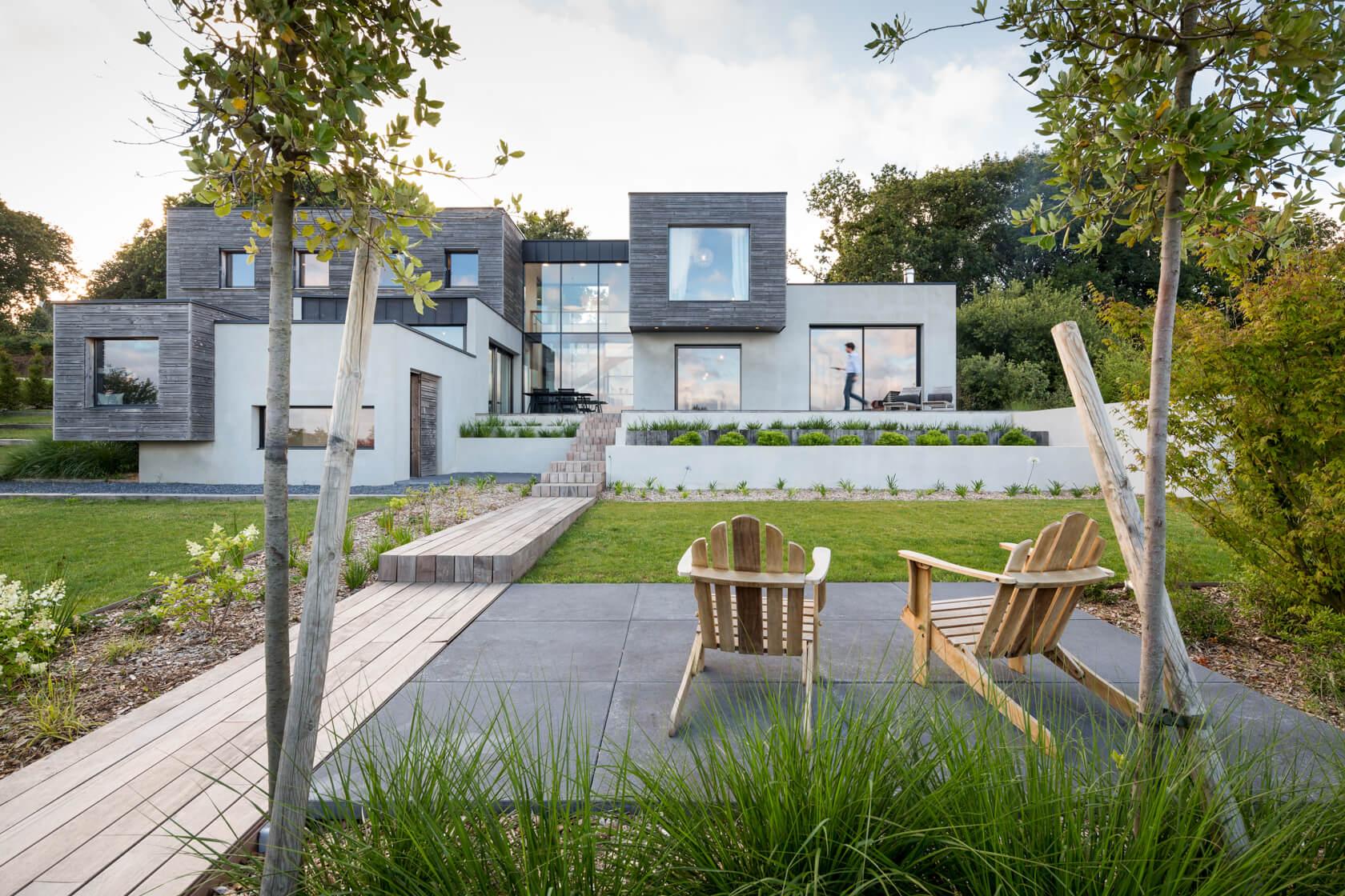 Les boites, conception jardin à Plougastel Daoulas