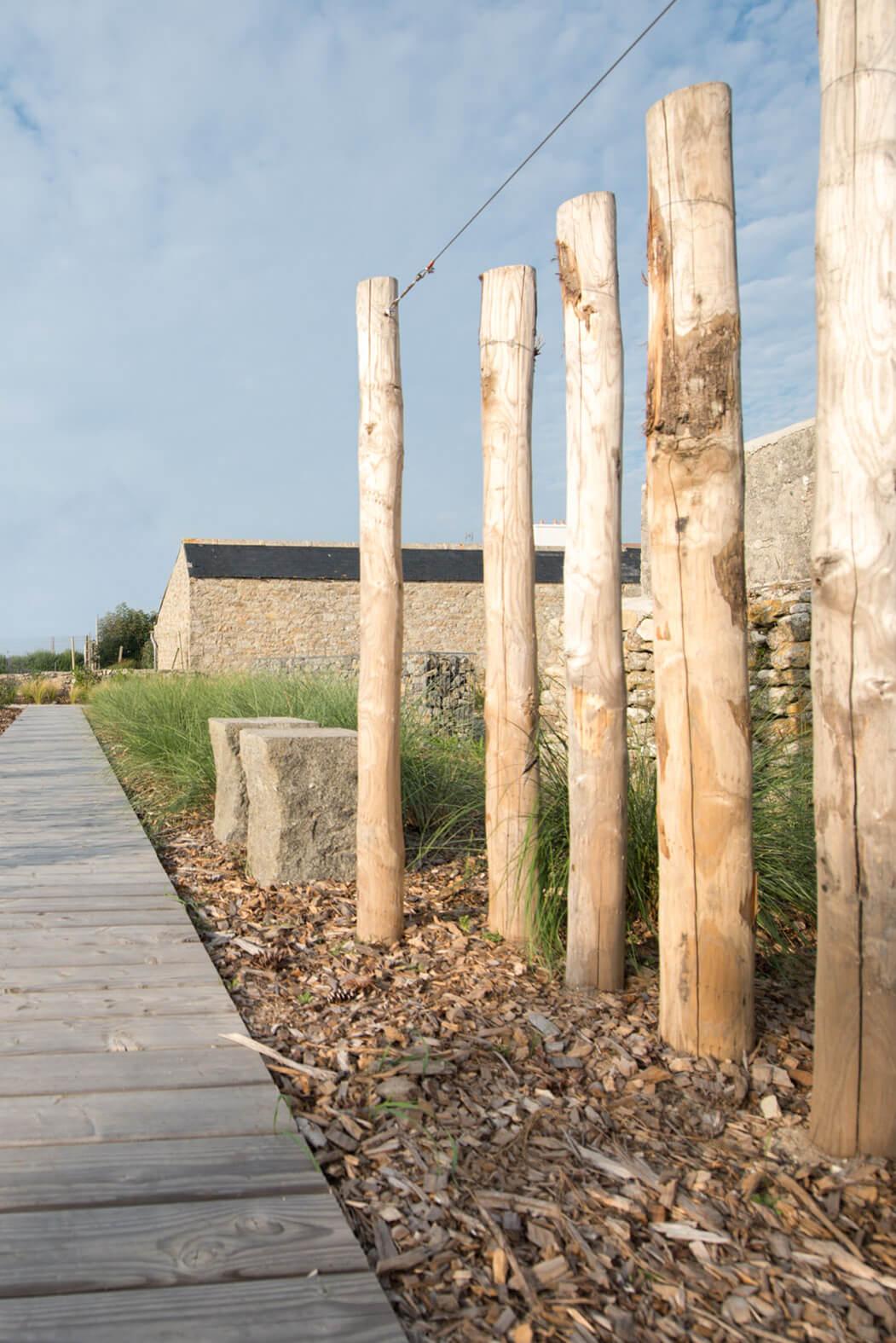 Jardin à Porspoder paysagiste dunes et rochers